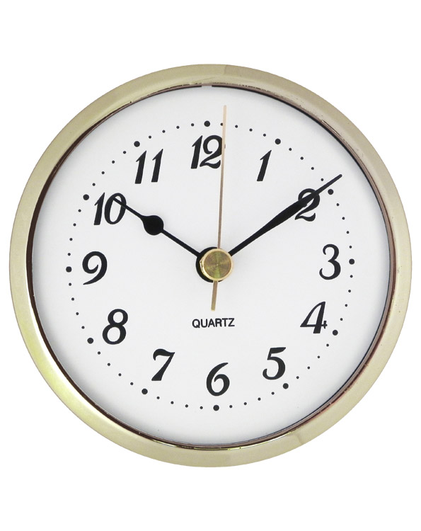 3-1/2'' Quartz Clock Insert with Arabic Numerals