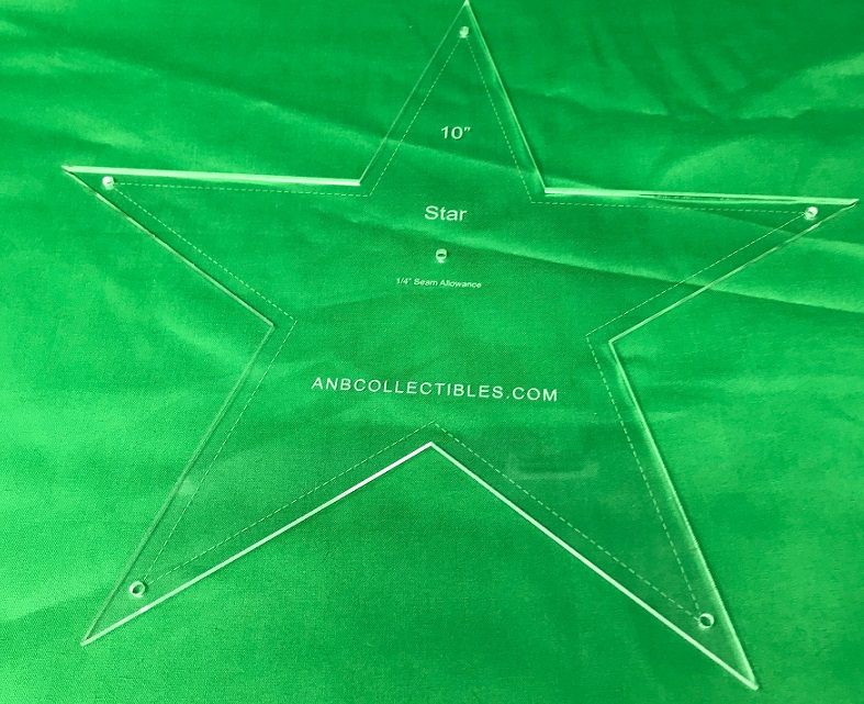 "5 3/16"" Star Quilting Template"