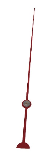 "5 7/8"" Red Second Hand for 7/8"" shaft or smaller"