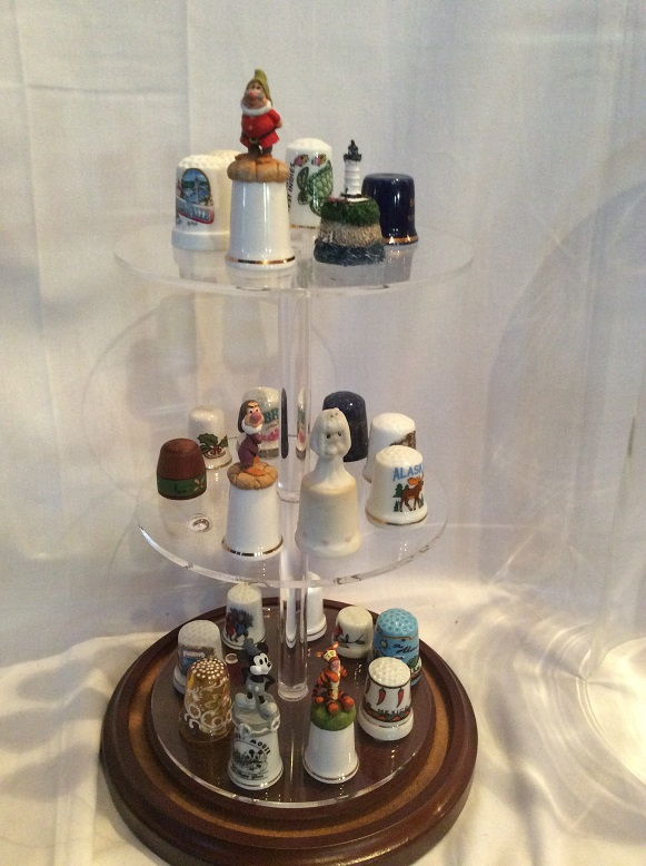 Lg. Glass Display Dome for TALL Collectible Thimbles