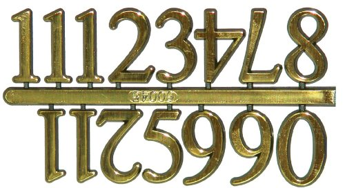 "5/8"" Gold Arabic Numerals - Set of 12"