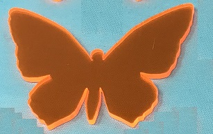Acrylic or Wood Butterfly #25 (available in different colors)
