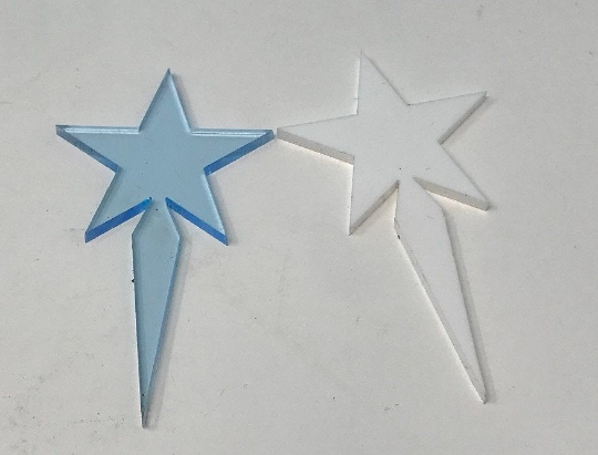 Choice of 16 Colors Star Cupcake / Party Picks Package of 25