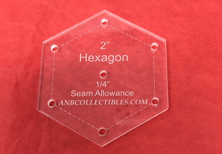Acrylic Hexagon Templates