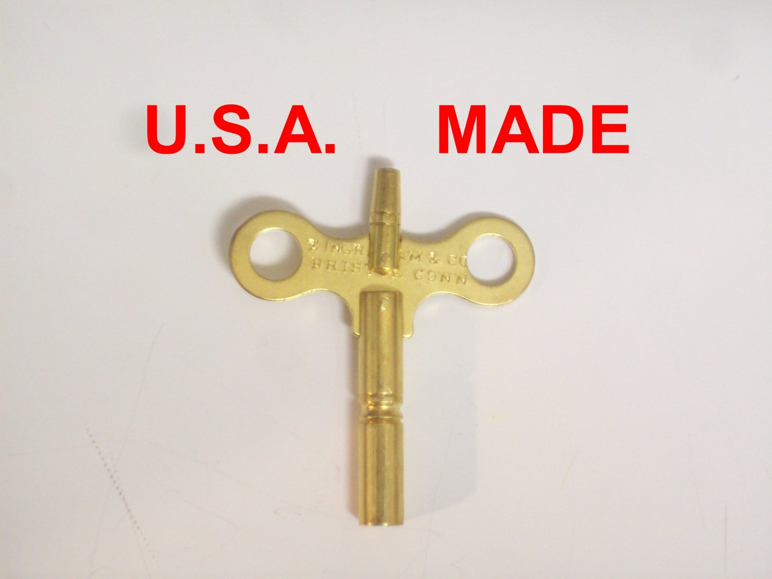 Ingraham Trademark Clock Winding Key Double End #6/000