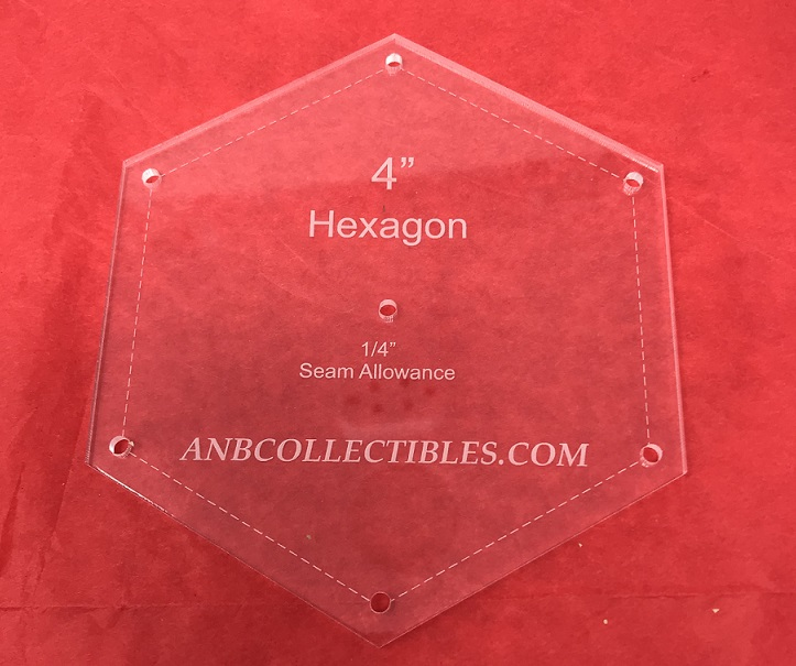 "1 1/16"" Hexagon Quilting Template"