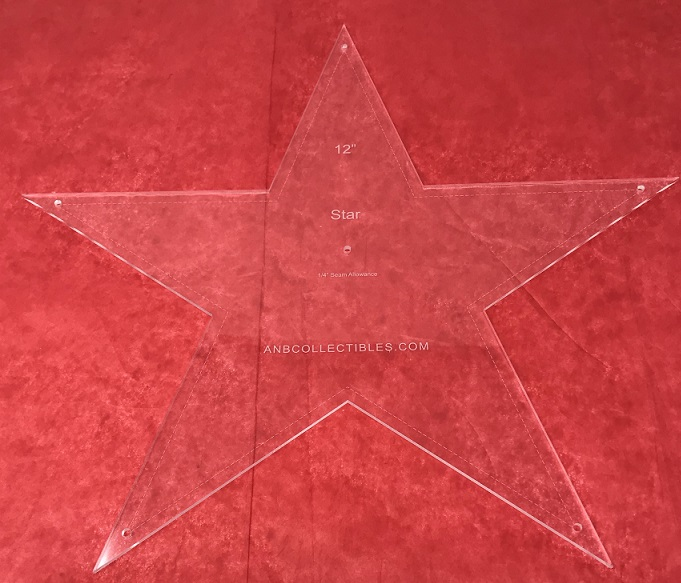 "10 5/16"" Star Quilting Template"
