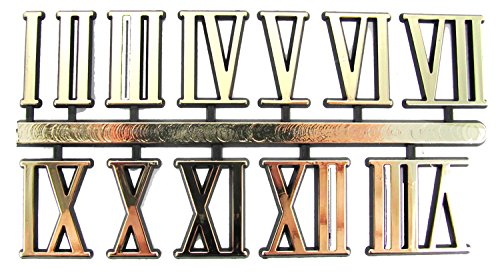 "1"" Gold Roman Numerals - Set of 12"